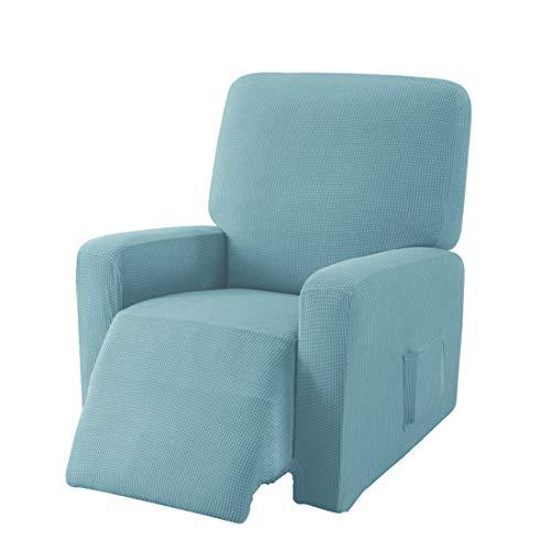 E EBETA Jacquard Sesselbezug, Sesselschoner, Stretchhusse für Relaxsessel Komplett, Elastisch Bezug für Fernsehsessel Liege Sessel (Denimblau)