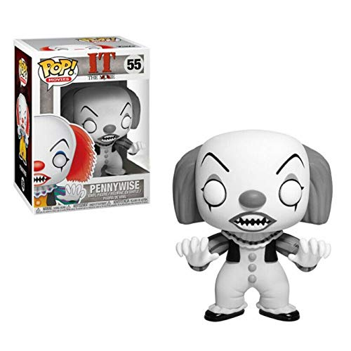 Funko- It Classic-Pennywise Exclusive (Black & White) Figurina, Multicolore, 35158