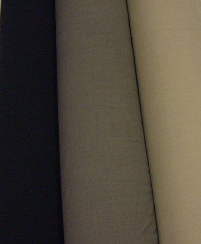 Wolltuch (Elasthan) - Stoff Meterware - Trevira Wolle in 1/1 Leinwandbindung (khaki)