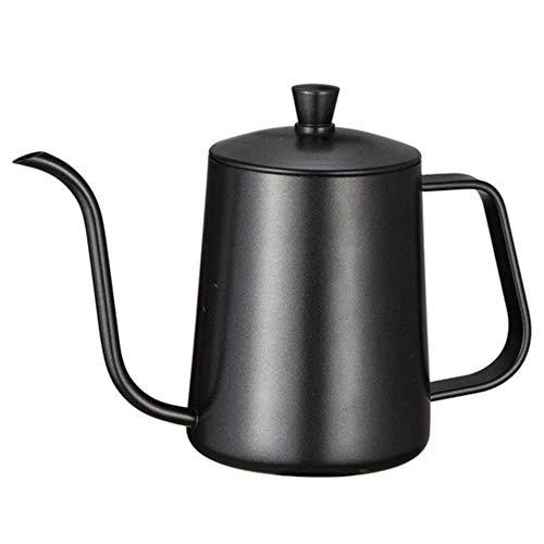 RANJN roestvrijstalen houder hand punch pot koffiepot met deksel druppel zwanenhals uitloop lange mond koffie waterkoker theepot