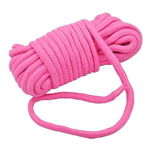 Soft Cotton Rope-32 feet 10m Multi-Function Natural Durable Long Rope (Pink)