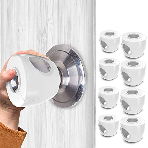 TinyPatrol 8 Pack Baby Safety Door Knob Cover