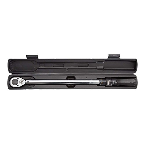 OEMTOOLS 25687 Click Style Torque Wrench   25-250 Ft/Lbs. of Torque (33.90-337.60 Nm), 1/2 Drive   Bar-Style Wrench Has Both Clockwise and Counterclockwise Operation