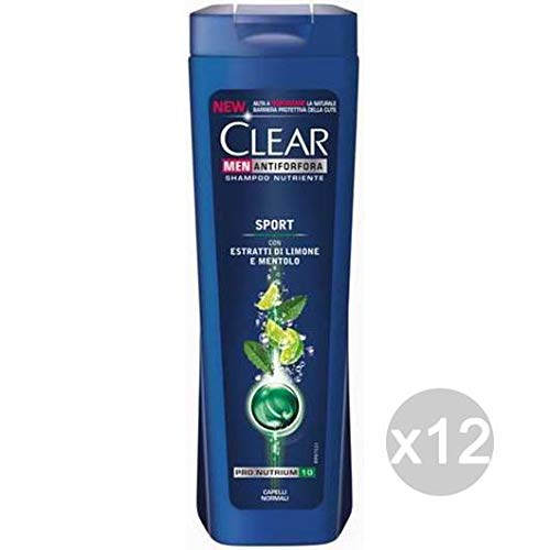 Clear Set 12 Shampoo Anti-Schuppen Sport Normale Limone/Mentolo Haarpflege Mehrfarbig