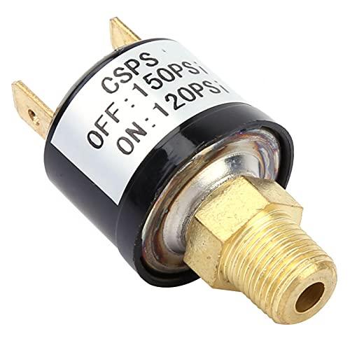 LANTRO JS - Interruptor de presión de aire 120-150 PSI Válvula de control de presión del compresor de aire Interruptor de presión de servicio pesado