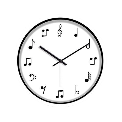LJF Wall Clock LiuJF muziek training cursus wandklok, (30-35CM) kinderkamer danskamer piano room wandklok praktisch en nauwkeurig