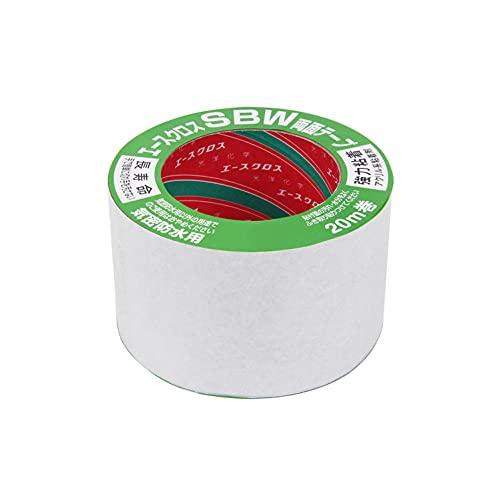 光洋化学 気密防水テープ エースクロス アクリル系強力粘着 両面テープ 剥離紙付 SBW 黒 75mm×20M