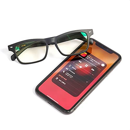 Bluetooth 5.0 Anti-Blue Light Glasses Toque Música estéreo inalámbrica con micrófono HD Surround Sound Sports Gafas para viajes de ciclismo