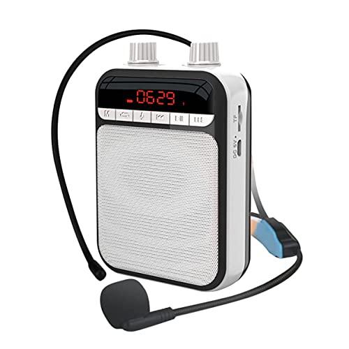 Amplificatore vocale portatile con microfono, altoparlante Bluetooth personale ricaricabile per insegnanti, guide turistiche, formazione per allenatori, presentazione