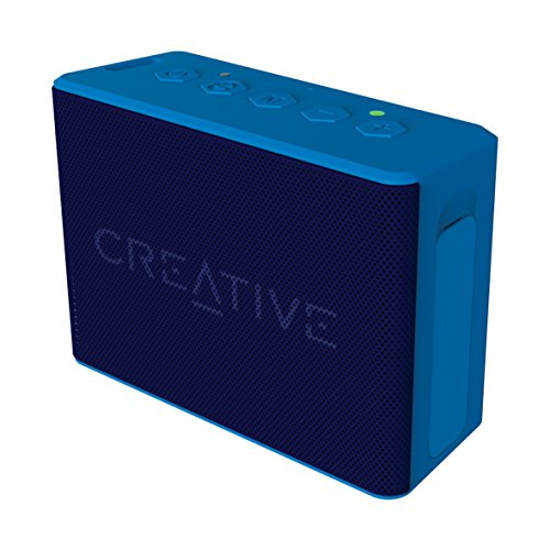 Creative MUVO 2c - Leistungsstarker, kompakter, wetterfester Wireless Bluetooth Lautsprecher (für Apple iOS/Android Smartphone, Tablet/MP3) blau
