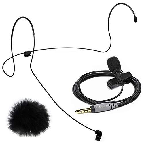 Rode SmartLav+ Lavalier Mikrofon + Lav Headset Kopfbügel Größe L + keepdrum Fell-Windschutz