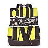 Yuanmeiju The Bouncing Souls 2 Womens Leather Multifunction Backpack