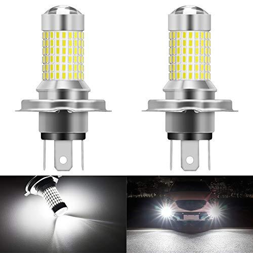 KATUR H4 9003 HB2 Ampoules LED antibrouillard Max 80W Super Lumineux 3000 lumens 6500K Xenon Blanc avec projecteur pour la Conduite de Feux diurnes DRL ou Feux de Brouillard, 12V -24V (Pack de 2)