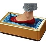 SFSGH Dispensador automático de Fundas de Zapatos, con Calzado Fundas de plástico para Zapatos Protector de alfombras Calzado Antideslizante de fácil Uso, Dorado, 100 Piezas de Fundas pa