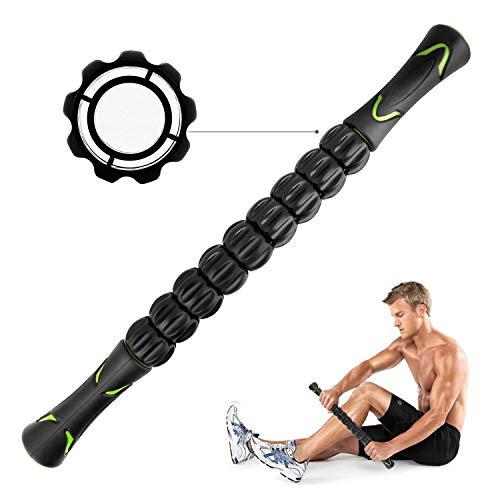 CHAOCHI Massageroller Muskel Roller Stick - Ultraportabel Massagegerät Tiefenmassagerolle für Triggerpunkte - Entlastung Muskelkater - Physiotherapie