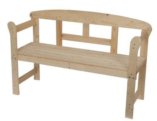 Dynamic24 massieve freesbank parkeerbank tuinbank tuin hout bank houten bank zitbank vurenhout