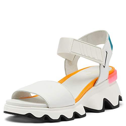 Sorel Women's Kinetic Sandals - Sea Salt, Black - Size 8