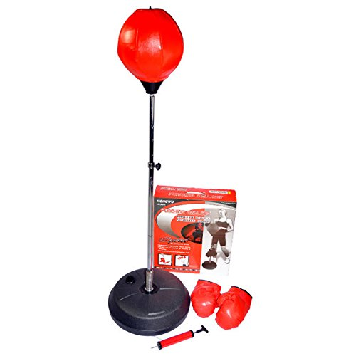 Price comparison product image Hongwu Free Standing Height Adjustable Punching Speed Ball Bag with Boxing Gloves