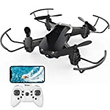 Mini Drone with Camera for Kids and Adults, EACHINE E61HW WiFi FPV Quadcopter with 720P HD Camera Selfie Pocket Nano Drone for Beginner - Auto Hover Mode, One Key Take Off/Landing, APP Control