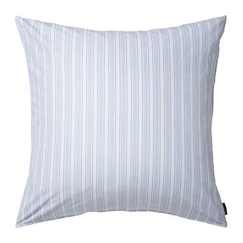 Lexington - Bettwäsche, Kopfkissenbezug, Kissenbezug - Blue Striped Cotton Linen Blue White - 80 x 80 cm - Material: 70% Baumwolle, 30% Leinen - 1 Stück