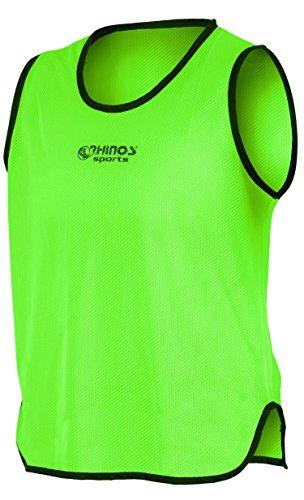 RHINOS Sports - Camiseta de entrenamiento, camiseta de marcación, color verde, tamaño extra-large