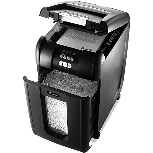 Best Prices! Swingline 1703092 Stack-and-Shred 300XL Super Cross-Cut Shredder Bundle, 300 Sheet Capa...