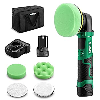 KIMO 12V 4  3000RPM Cordless Car Buffer Polisher Kit w/ 2.0Ah Battery & Fast Charger Variable Speed 4 Polishing Pads for Removing Car Scratch Polishing Car/Home Appliance/Ceramic/Boat Detailing