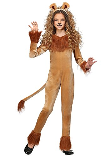 Girl's Fierce Lion Costume Medium