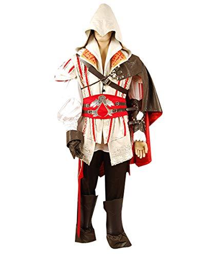 MingoTor Assassine Attentäter Cosplay Kostüm Weiß Herren S