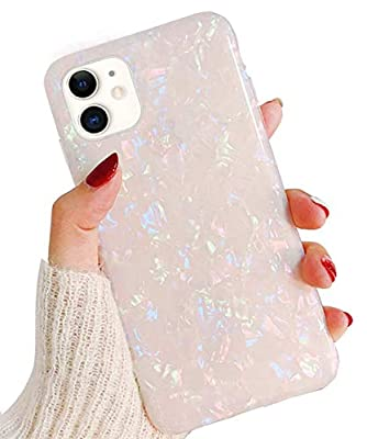 """Hapitek iPhone 11 Case, iPhone 11 Marble Case, Slim Soft Flexible TPU Marble Floral Pattern Protective Cover for Apple iPhone 11 6.1"""" (Colorful)"""