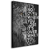 Tankaa Lion Motivation Leinwand Wandkunst Inspirierender