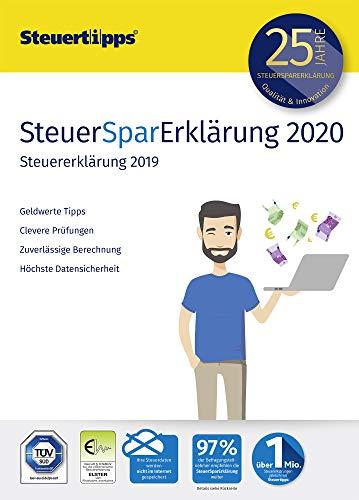 SteuerSparErklärung 2020, Schritt-für-Schritt Steuersoftware für die Steuererklärung 2019, Aktivierungscode per Mail für Windows 10, 8