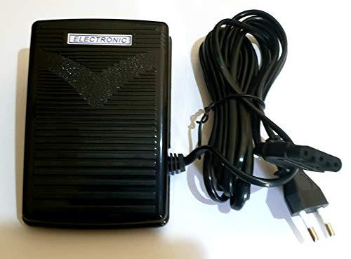 Zenith Foot Controller Automatic Sewing Machines Usha Janome Type (Black) Indian Plug 200-240V