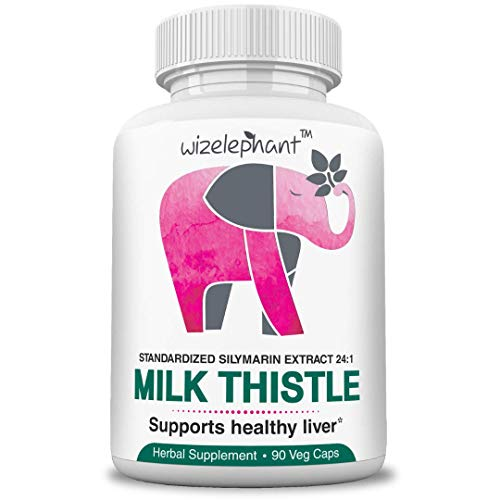 Milk Thistle  Max Strength 24x1 Seed Extract  400mg per Veg Cap  80% Silymarin Flavanoids  for Liver Health and Detox  Powerful Antioxidant  90Day Supply