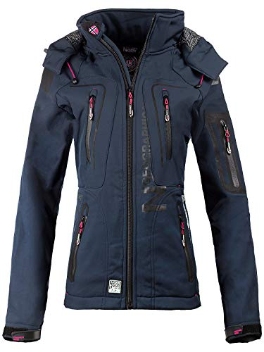 Geographical Norway - Chaqueta softshell para mujer Navy-01 L