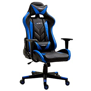 T-LoVendo TLV-RX-Blue Silla Gaming Oficina Racing Sillon Gamer Racer X Profesional Videojuegos PC