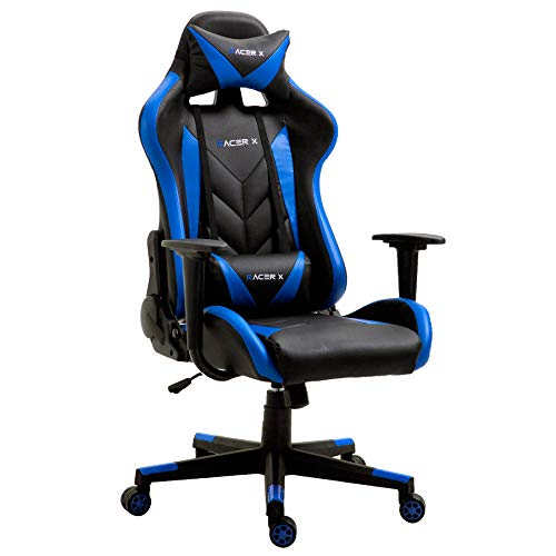 T-LoVendo TLV-RX-Blue Silla Gaming Oficina Racing Sillon