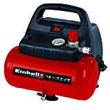 Einhell TH-AC 190/6 OF - Compresor de aire, 8 bar, depósito 6 l, aspiración 185 l /min, 1100 W, 230 V, color rojo y...