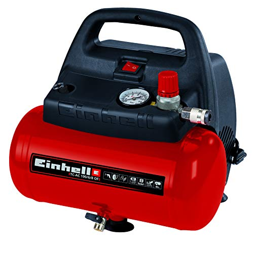 Einhell Compressore Tc-Ac 190/6/8 Of 1100 W, Max. 8 Bar, Motore Senza...