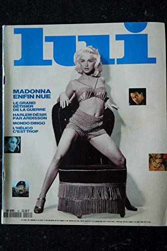 LUI 042 1991 AVRIL COVER MADONNA NUDE PHOTO STEVEN MEISEL + POSTER MARTIN VEYRON DENIS MALERBI CHARME