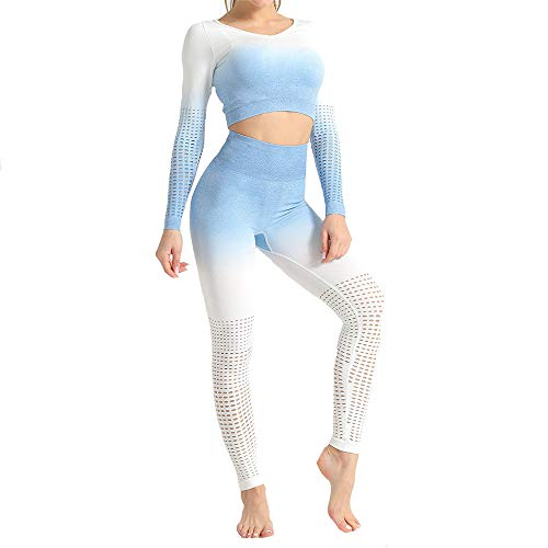 PPPPA Farbverlauf Farbe hängen Farbstoff Yoga Fitness Anzug hohe Taille Nahtlose Enge Sporthose Yoga Kleidung Fitness Yoga Kleidung eng laufende Fitness Yoga Hose Stretch Sporthose