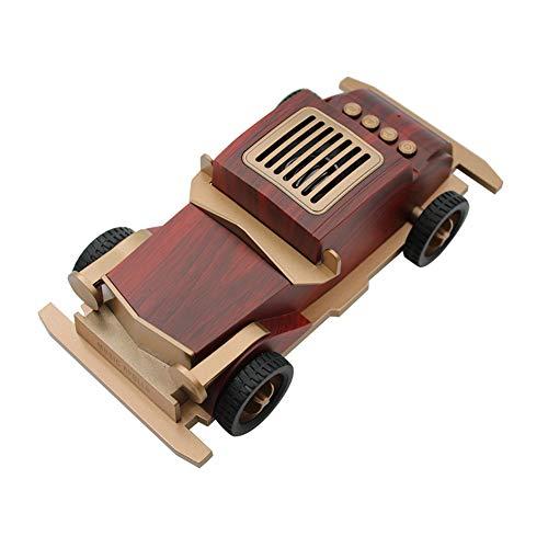 R-SOUNDBAR Wooden Bluetooth Speaker, Subwoofer Wireless Mini Car Speaker Gift, Vintage Classic Car, Best Gifts for Kid,B