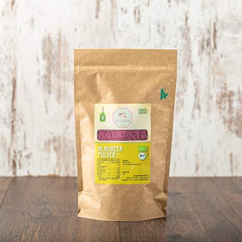 süssundclever.de® Bio Blaubeerpulver | 100 g | Premium Qualität | ungezuckert | plastikfrei und ökologisch-nachhaltig abgepackt