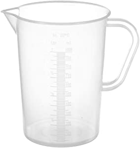 Appletofu Plastic Graduated Measuring and Mixing Pitcher, 2000ml Liquid Beaker Measuring Cups, 2 Liter Food Grade Polypropylene Plastic Graduated Measuring Pitcher with Handle and Pour Spout.