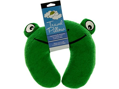 bulk buys Terry Frog Travel Pillow - Pack of 16