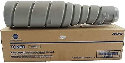 Konica Minolta TN414 (A202030) OEM Toner Cartridge, 25K Pages, Black