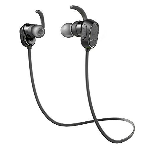 Anker Soundbuds Bluetooth In-Ear Kopfhörer Halsband Sport Ohrhörer, IPX4 Spritzwassergeschützt für Fitness, Kopfhörer mit Mikrofon für iPhone, Android, MP3 & mehr(Generalüberholt)