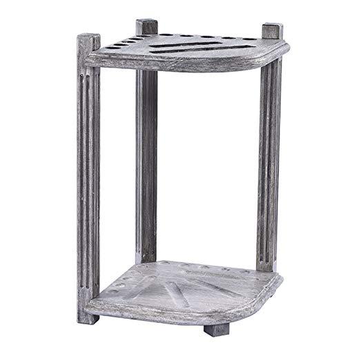 MYLW Billard Queue Halter Eckfußbodenpool-Stickhalter - Hält 10 Hinweise, graue antike Cue-Rack-Speicher-Anzeige für Business Club, Game Room - Tall 27,5 Zoll (Color : Gray, Size : 39×39×70cm)