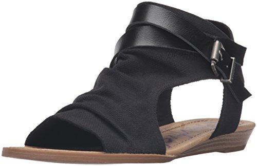 Blowfish Malibu Women's Balla Wedge Sandal, Black, 8.5 Medium US