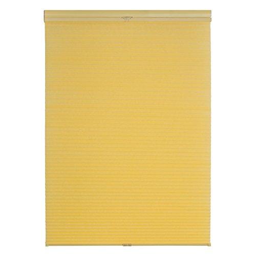 Lichtblick TPK.100.130.26 Plissee Klemmfix, Thermo, ohne Bohren - Gelb 100 cm x 130 cm (B x L)